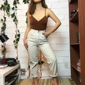Vintage Rockies cream high waisted jeans